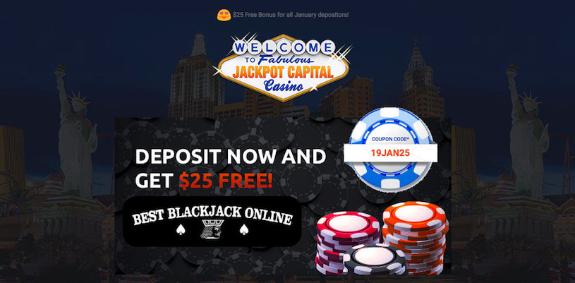 Jackpot Capital Free Chip for January 2019