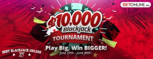 Big Blackjack Tournaments at BetOnline for June 2019